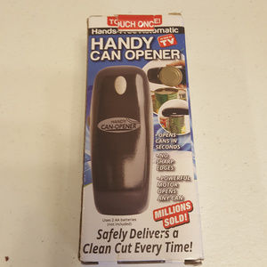 Hands-Free Automatic Handy Can Opener Black